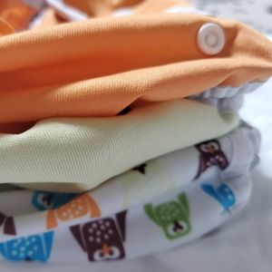(3) Thirsties one-size 6-18 lbs diaper covers